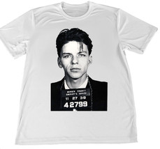 Frank Sinatra Mug Shot Wicking T-Shirt w American Flag Car Coaster - $18.76+