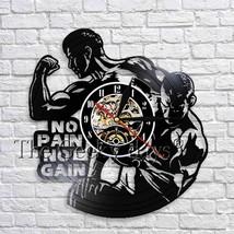 No Pain No Gain Gym Clock Bodybuilding Vinyl Record Wall Watch Clock Spo... - $34.57+