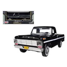 1969 Ford F-100 Pickup Truck Black 1/24 Diecast Model Car by Motormax 79... - $31.10