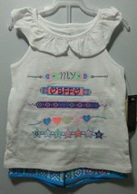 NEW GIRLS 2 PIECE OUTFIT SHIRT SHORTS MY BBF LOVES GLITTER SIZE 4 5 6 di... - $9.99