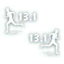 Marathon 13.1 MAN BOY decal bumper sticker PAIR for Olympic mile runner ... - $8.83
