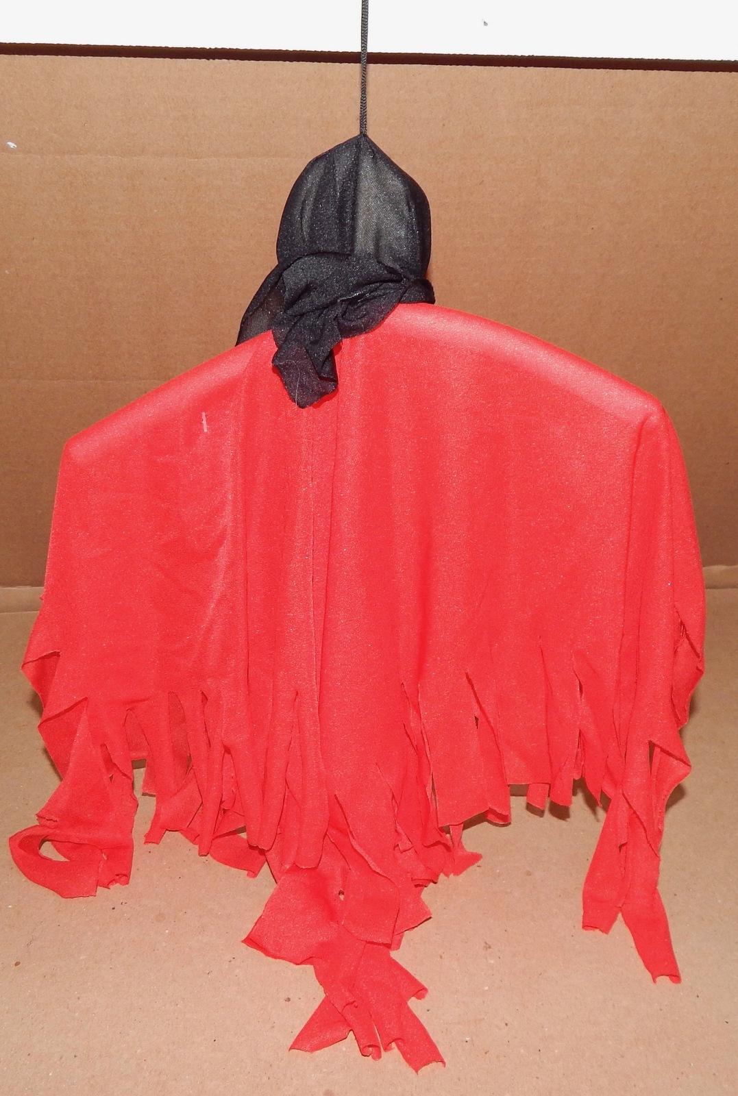 "Halloween Decorative Hanging Decoration Ghost Skulls 3ea 15"" x 10"" Bendable 129E"