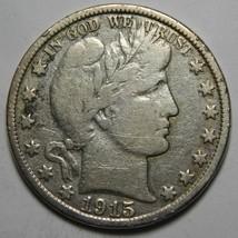 1915D Liberty Barber Head Half Dollar 50¢ Silver Coin Lot# MZ 4377