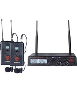 Nady Uhf Dual 100-channel Wireless Lavalier Handheld Microphone System N... - $335.47