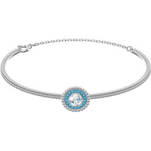 Authentic Swarovski Oxygen Collection Rhodium Bangle / Bracelet - $74.05