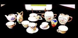 Tea Cups & Saucers AB 299 Miniature Vintage
