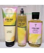 Lemon Drop Martini Bath and Body Works Fragrance Mist Cream Shower Gel Set - $39.00