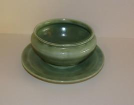 Hlc Homer Laughlin Wells Art Glaze Green Faststand Gravy - $71.25