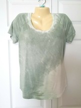 AMERICAN EAGLE OUTFITTERS Size S Small Soft & Sexy Green Tie Dye Tee Shi... - $9.85