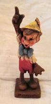 "PINOCCHIO Figurine Syroco Wood Multi-Products 7.5"" Walt Disney Figure Vtg 1940s - $250.00"