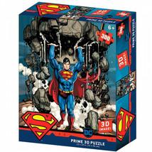 DC Comics Superman Lifting A Building 3D Image 300pc Puzzle Multi-Color - $19.98