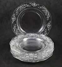 "Set of 6, Navarre No. 327, 6.25"" Bread Plates, made by Fostoria Glass Co. - $36.00"