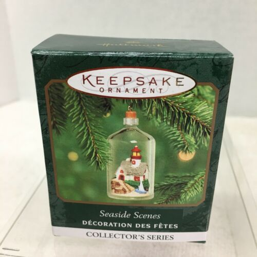 Primary image for 2000 Seaside Scenes #2 Mini Hallmark Christmas Tree Ornament MIB w Price Tag H2