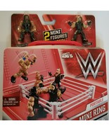 WWE MIGHTY MINI'S  PORTABLE MINI RING WITH SETH ROLLINS & ROMAN REIGNS NEW - $11.99