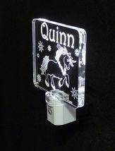 """Personalized Unicorn Night Light - LED - Girls Lamp 3/8"""" Acrylc image 10"""