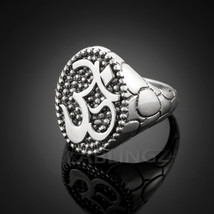 Sterling Silver Mens Om (Aum) Yoga Statement Ring - $69.99
