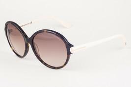Tom Ford MILENA Havana Ivory / Brown Gradient Sunglasses TF343 56F 59mm - $155.82
