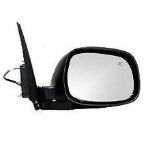 01-07 Sequoia/Tundra Right Pass Mirror Power Non-Painted Blk w/Heat w/o ... - $55.95