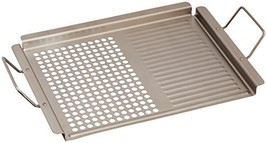 """TableCraft 18.75"""" Stainless Steel Dual Surface Grilling Pan with Handles... - $27.95"""