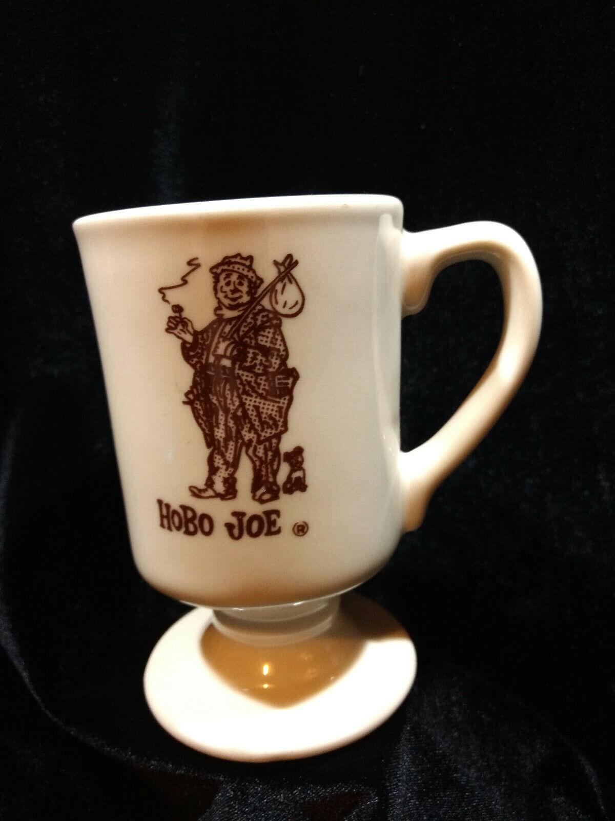 Vintage Hobo Joe Footed Diner Mug Coffee Tea Pedestal Cup Vagabond Restaurant