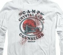 Friday the 13th Jason Camp Crystal Lake Counselor Horror Long Sleeve Tee WBM638 image 3