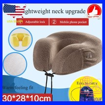 Hot Soft U Shaped support Neck memory foam pillow for travel made bamboo... - $37.96