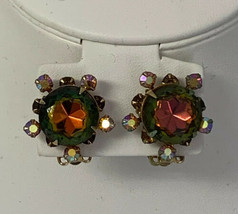 Vintage Signed Beau Jewels Clip On Earrings - $16.45