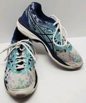 Asics Womens Running Athletic Shoes Cumulus 18 Size US 8.5 White & Blue ... - $38.69