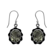 Oxidized Finish 925 Sterling Silver Green Amethyst Gemstone Women's Gift... - $26.23