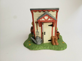 Garden House Tealight Candle Holder Shed Spring Village PartyLite P0700 Vtg - $15.79