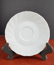 "Sheffield saucer 6"" Bone White fine porcelain china white REPLACEMENT - $5.92"