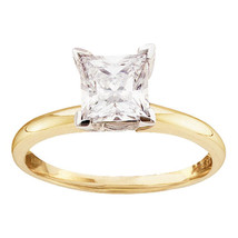 14k Yellow Gold Princess Diamond Solitaire Bridal Wedding Engagement Rin... - $1,717.60