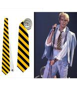 necktie as David Bowie 80s fashion wasp bee black yellow stripes roleplay ziggy - $24.00