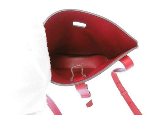 HERMES Baton de Craie 24 Veau Epsom Rouge Casaque Shoulder Bag 2017 #A Authentic image 10