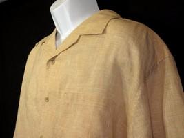 Joseph Abboud 100% Linen Button Down Mens Shirt Size XL / TG Orange Sher... - $12.11 CAD