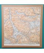1897 MAP Baedeker - Scotland Stirling Loch Lomond Katrine Vennachar & En... - $18.00