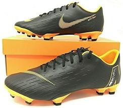 Nike Vapor 12 Pro FG Mens Soccer Cleats Black-Total Orange ACC Size AH7382 081 - $67.99