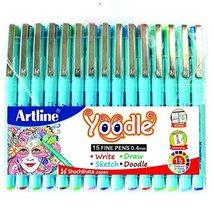 Artline Yoodle Fine Pen Assorted Colours (Combo Of 15) Pens 0.4 mm Tip - $49.49