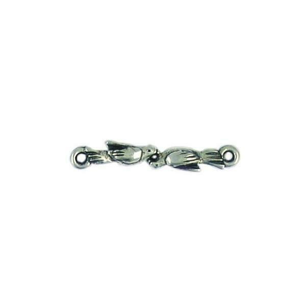 BIRDS FINE PEWTER CONNECTOR - 27mm  x 5mm x 3mm