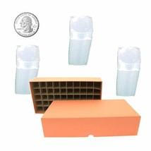 Guardhouse Quarter/Orange Coin Tube Box with 50 Numis Quarter Square Coi... - $41.99