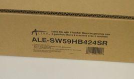 Alera ALESW59HB424SR Hook Bar 24 Inches 5 Hooks Set of 2 image 4