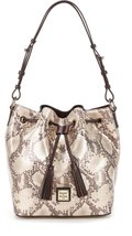 Dooney & Bourke Kitney Collection Serena Tasseled Snake Drawstring Bag - $338.58