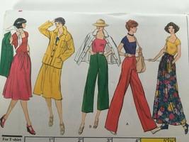Vogue Sewing Pattern 9410 Jacket Skirt Pants T-Shirt Vintage 1970s Style Uncut - $15.00