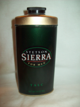 Rare Stetson Sierra Talc 2 Oz. Men Coty Perfume Cologne Fragrance Body Powder - $59.96