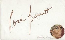 Rona Barrett Signed Vintage 3x5 Index Card JSA B - $29.69