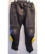 Frank Thomas Heavy Leather Motorcycle Racing Pants Size 36 Large Smiley ... - $99.99