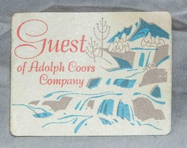 Vintage Adolph Coors Company Guest Sticker Pass Decal g50 - $9.89