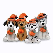 Plushland Halloween Pawpals 8 inches Puppy Dog Plush Stuffed Toy Comes with Hat