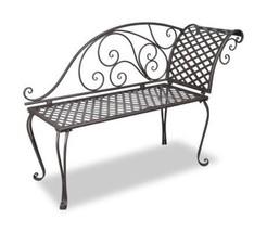 Outdoor Sun Lounge Garden Metal Lounger Patio Bench Chair Seat Brown Fur... - $139.05