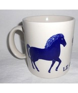 Taylor Ng Le Cheval Horse Pony Coffee Cup Mug Cobalt Blue - $79.18